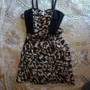 Gianni Bini strapless dress leopard print …